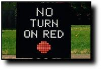 R10-11 No Turn On Red Blankout Sign