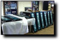 Flag Mounted Illuminated Signs In Production