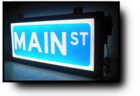 Main Street Edge Lit Street Sign